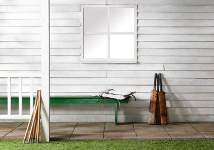 Cricket pavillion set